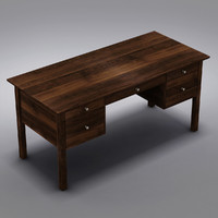 3d crate barrel ainsworth walnut model