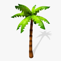 cartoon palm tree 3d 3ds