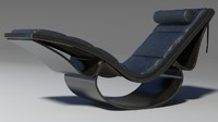 3d model rio chaise black