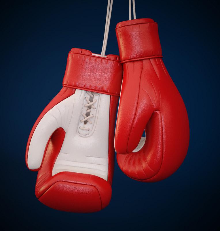 sports equipment boxing glove 3d model