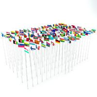 3d obj 111 flags