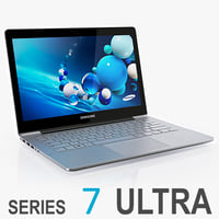 3d model samsung series 7 ultrabook