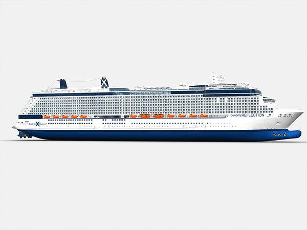 3d model solstice ship celebrity cruises
