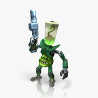 alien invader rigged animate ma