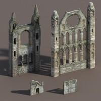 Castle Ruin Pack Low poly 3d Model(1)