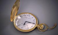 3d gold watch model
