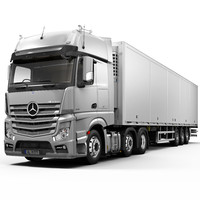 Mercedes Actros 6X2 with trailer