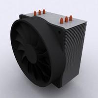 cpu cooler vertical heat 3ds