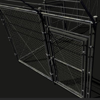 Chainlink fence, modular, game ready