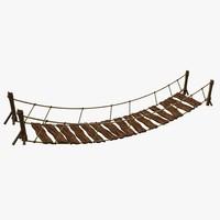 wood suspension bridge 3d max