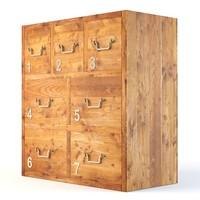 3d model blocky 7 drawer