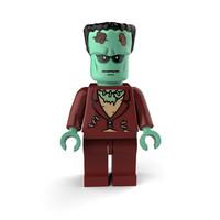 3d frankenstein lego model