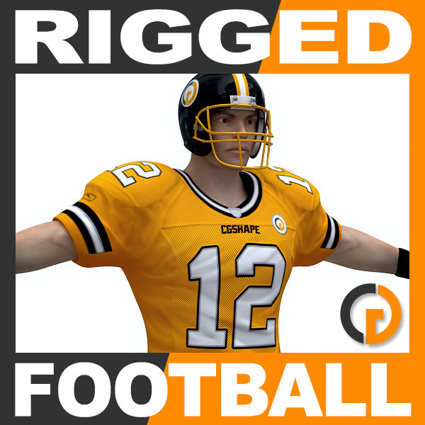 rigged american football player max