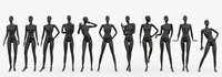Female mannequins set 2