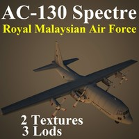 ac-130 spectre rmf 3d max