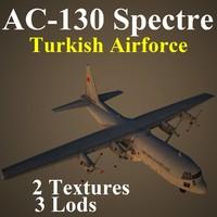 ac-130 spectre taf 3d max