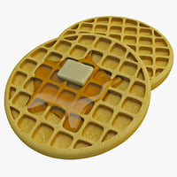 3d american waffles model