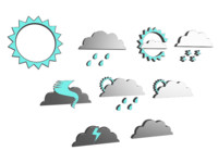 weather icons 3d model