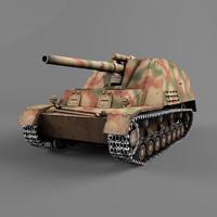 3d hummel vehicles artillery