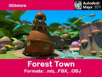 town houses obj