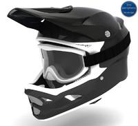 fiber carbon helmet goggles 3d model