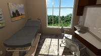 hospital consultation room 3d 3ds