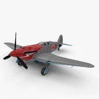 3d model yak-3 aircraft world