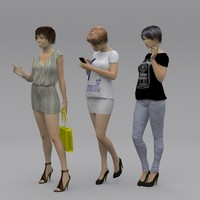 3 female models
