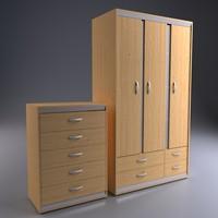 3d chest drawers wardrobe