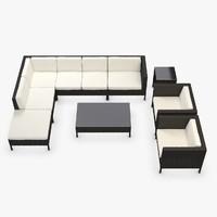Garden Furniture - Synthetic rattan Corner, Armchair, Loveseat, coffee table, side table, ottoman