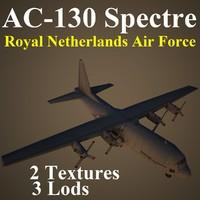 ac-130 spectre rnl 3d model