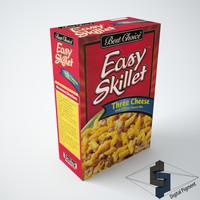 3d easy skillet cheese model