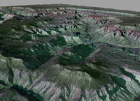 3d realistic grand canyon