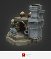 3d hand painted orc smithy