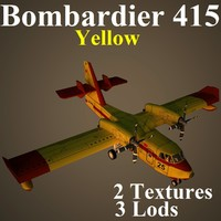 bombardier yel aircraft 3d model