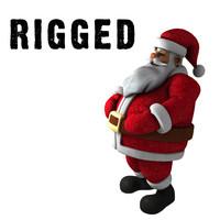 3d model santa rigged