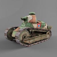 3d model renault ft tank armor