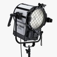 "Altman ProLine 2000 L-SM Watt 7"" Fresnel Stand Mounted Model and Altman 8 Leaf TV Film Barndoor"