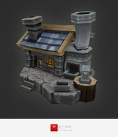 hand painted human smithy 3d model