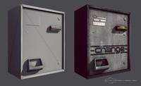 laundromat change machine 3d model