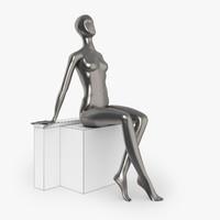slim female mannequins 3d max
