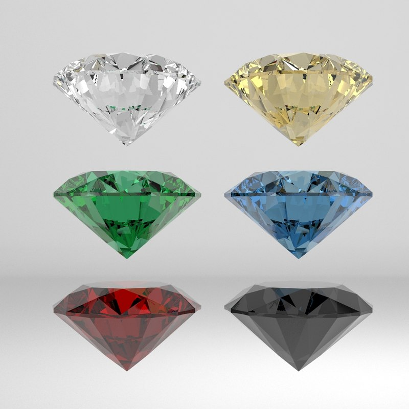 3d diamond brilliant model