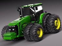 3d model hd john deere tractor