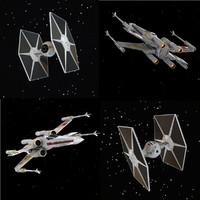 3d model ie figher x-wing