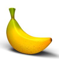 toon banana 3d model