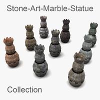 3d model weird statue museum