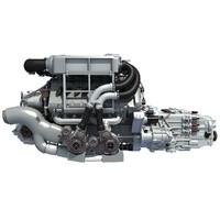 3d bugatti veyron w16 engine