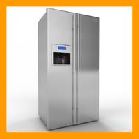 electrolux fridge freezer 3d 3ds