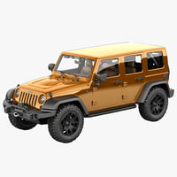 3d model jeep wrangler moab 2013