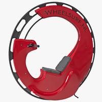 motorized single wheel monocycle 3d max